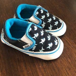 Size 2 baby shark Vans sneakers
